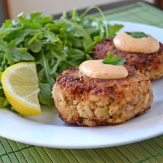 Maryland Crab Cakes with Horseradish-Sriracha Remoulade.  Easy to make and ridiculously delicious.  | blog.hostthetoast.com