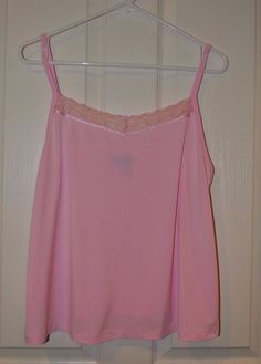Lane Bryant Solid Pink Lace Cami Tank with Adjustable Straps Size 14/16 #LaneBryant