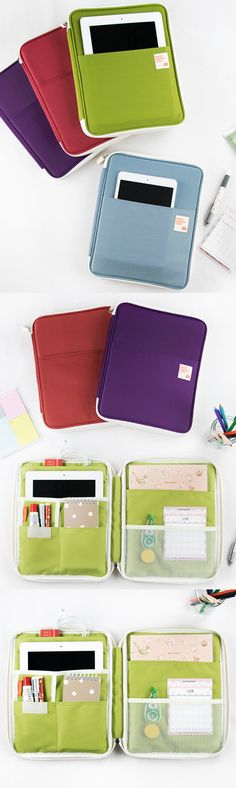 The Better Together iPad Pouch is the best way to carry your iPad outside! It can hold my iPad securely inside the padded pouch, and I can even store other items with many pockets included!