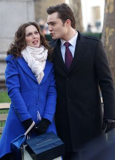 Say Farewell to Gossip Girl With a Look Back the Cast's Cutest Snaps! : Leighton Meester joked around with Ed Westwick in December 2009.
