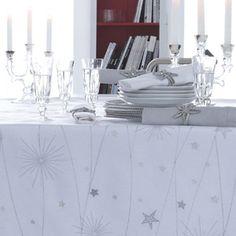Chemin de table en lin Teflon Constellation Alexandre Turpault