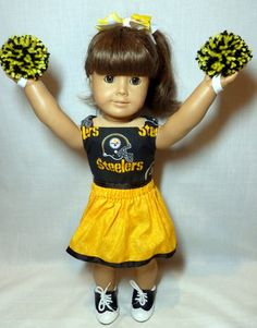American Girl doll clothes cheerleader by OffTheHookbyLora on Etsy, $17.00