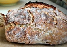 No-knead bread o Pane senza impasto Yummy Snacks, Yummy Food, Focaccia Pizza, Calzone, My Favorite Food, Favorite Recipes, Bread Recipes, Cooking Recipes, No Knead Bread