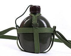 Toparchery 12L Capacity Military Canteen with Adjustable Shoulder Strap *** Want additional info? Click on the image.