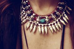 silver and turquoise necklace by Spell and the Gypsy Collective