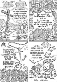 8 Printable Coloring Scripture Cards Coloringcards Pattern Bibleverses