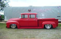 Visit The MACHINE Shop Café... ❤ Best of Trucks @ MACHINE ❤ ('56 Ford F100 Crew Cab Dually)
