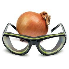The Tear-Free Onion Glasses - Hammacher Schlemmer