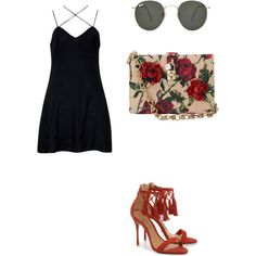Untitled #604 by rebecca-fitzpatrick on Polyvore featuring polyvore fashion style Motel Schutz Dolce&Gabbana Ray-Ban