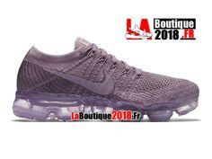9b35aa873721 Nike Wmns Air VaporMax Flyknit - Chaussure de Running Nike Pas Cher Pour  Femme Fille Violet poudre Brume prune Violet poudre 849557-500