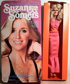 Suzanne Somers as Chrissy Snow~ Awesome And Kinda Weird Celebrity Dolls Chrissy Snow, Kristy Mcnichol, Suzanne Somers, Three's Company, Farrah Fawcett, Thing 1, Boy George, Totally Awesome, Catchphrase