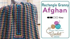 Crochet your own Granny Rectangle Afghan. If you love Granny Square Afghans as one big solid granny square, you may just love this rectangle version.