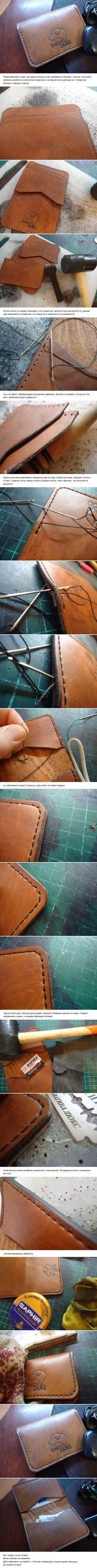 Кардхолдер, мини кошелек своими руками 2 часть мое  рукоделие, кожаные изделия, salty dog, длиннопост