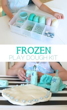 Frozen-Themed Play Dough Kit {a perfect gift for little Frozen lovers!} | Mama.Papa.Bubba.