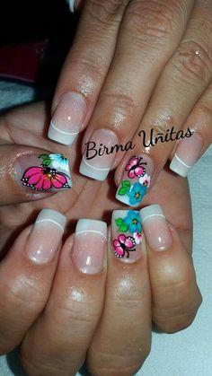 Cute Spring Nails, Summer Nails, Diy Nails, Cute Nails, Fingernail Designs, Eyeliner, Gorgeous Nails, Pedicure, Eye Makeup