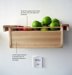 save food from the refrigerator design project - Apples emit a lot of ethylene gas. It has the effect of speeding up the ripening process of fruits and vegetables kept together with apples. When combined with potatoes, apples prevent them from sprouting. Potato Storage, How To Store Potatoes, Storing Potatoes, Sprouting Potatoes, O Gas, Energy Bill, Preserving Food, Food Storage, Produce Storage