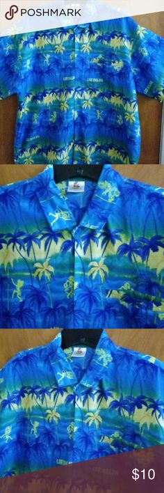 Men's Tropical Caribbean Short Sleeve Shirt👕 Beautiful Colors that really eye-catching - Light Weight - Blue Buttons - Large Size Shirt - 1 pocket in front -Made in India Rima Shirts Casual Button Down Shirts