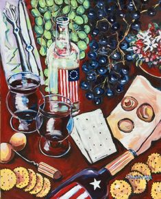 Wine Modern Still Life USA Original Art PAINTING DAN BYL Contemporary huge 4x5ft #Modern Oil Painting Abstract, Abstract Canvas, Happy July, Surreal Art, Large Art, Impressionism, Contemporary, Modern, Wall Art Decor