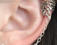 CZ Cartilage Wrap Ear Cuff Sterling Silver with by ChapmanJewelry