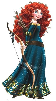 """A lot of people didn't like the """"shiny"""" version of Merida for the Disney parks. I did. I think her dress is amazing!"""