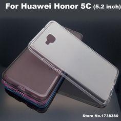 Huawei honor 5c case copertura senza impronte digitali matte tpu cassa del telefono copertura posteriore case for huawei honor 5c copertura posteriore case