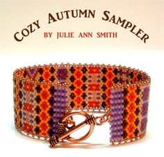 COZY AUTUMN SAMPLER Bracelet Pattern, Sova Enterprises INSPIRATION, IDEA