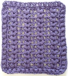 "Free pattern for ""Purple Puffs Dishcloth""!"
