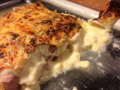 Endives au jambon par Benkku81 Lasagna, Ethnic Recipes, Food, Meat, Recipe, Kitchens, Essen, Meals, Yemek