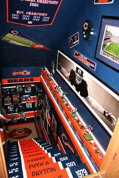 Chicago Bears mancave! by bearlacher, via Flickr....when we finally settle down and have our huge home