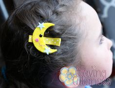 Moon Hair Clip Meet Miss Moonie by CravingCuteness on Etsy