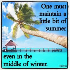 """""""One must maintain a little bit of summer even in the middle of winter."""" -Throeau  Come check out Suddenly Bronze!!"""