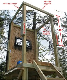 DIY Deer Stand | View Source | More Tree Stand Free Plans Homemade Box Deer Hunting ...