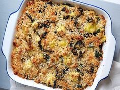 Healthy Squash and Kale Casserole Recipe from Food Network. I substituted cauliflower for the rice, and used all butternut squash. I also added sweet red pepper, yum!