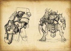 ArtStation - Warhammer 40 000 (part 1), Shoker Igor