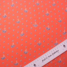 Orange Printed Silk Georgette