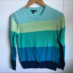 Gap color block sweater spring teal blue green S Pre loved. Make an offer please GAP Sweaters Crew & Scoop Necks