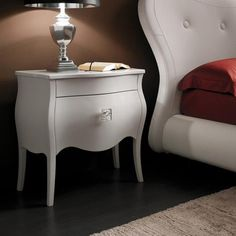 I pinned this YumanMod Victoria Nightstand from the Design Icon: Marilyn Monroe event at Joss and Main! Classic style gets a contemporary twist in the gorgeous Victoria Nightstand from YumanMod. Artfully crafted of wood, this traditionally flowing silhouette showcases a crisp white finish, elegant scallop-style detail, and interior space for bedroom essentials.  I love the simple  yet elegant lines of this night stand.