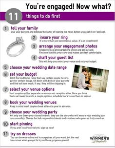 Once you're engaged, here are your first steps. |