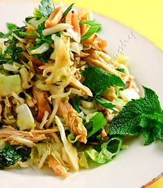 VIETNAMESE CABBAGE SLAW - Change up your next picnic menu and your guests will love it! This Vietnamese cabbage slaw contains all the classic flavors of Thai and Vietnamese cuisi.  Get this recipe by clicking on the link below: http://ow.ly/Ktg9301D8gm