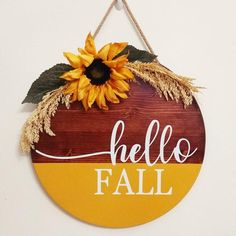 Thanksgiving Crafts, Fall Crafts, Holiday Crafts, Holiday Ideas, Wooden Door Signs, Fall Wood Signs, Fall Door Hangers, Fall Projects, Diy Projects