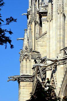 Gargoyles Of Notre Dame De Paris Print By Carla Parris