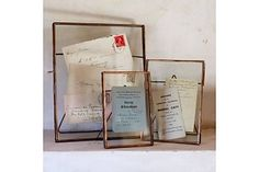 Nkuku - 'Danta' antieke fotolijst koper (2 varianten)