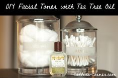Make your own facial toner with tea tree oil and water! 2-3 drops of tea tree oil and 1/4 cup of filtered water. Shake container each time before use and apply with a cotton ball or use as a spray.
