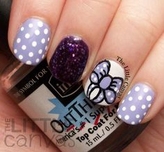 The Little Canvas: Bow Manicure with NYC New York Color NY Princess
