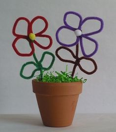 Small pipe cleaner flowers