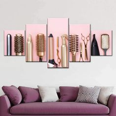 Tools To Gorgeousness Multi Panel Canvas Wall Art | ElephantStock