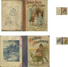 Some miniature book printies for the nursery (antique) | Source: J Day Minis