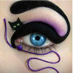 This! Cat eyes makeup