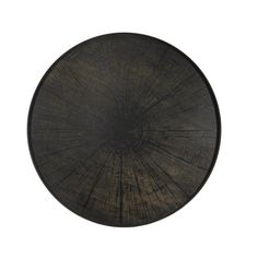 Notre+Monde+Black+Slice+Driftwood+Tray+Round+XL+-+XL+round+driftwood+serving+tray+with+painted+imprint+effect.  Embrace+the+eclectic+modernity+of+the+Notre+Monde+Black+Slice+Driftwood+Tray+Round+XL.  Drawing+inspiration+from+nature,+this+unique+round+serving+tray+features+a+bark+effect+to+invite+a+rustic+expression+of+style+to+your+dining+collection…