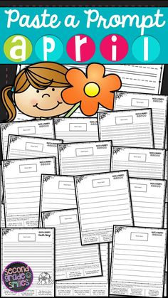 April Paste a Prompt (Writing Prompts) - motivate reluctant writers by offering elements of choice while still ensuring that students practice personal narrative, informative/expository, opinion, descriptive, and creative writing $
